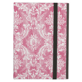 Pink Rose Vintage Damask Pattern Cover For iPad Air