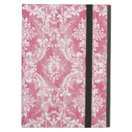 Pink Rose Vintage Damask Pattern iPad Covers