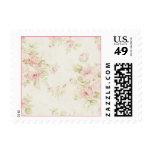 Pink Rose Vintage Floral Pattern Wedding Stamps