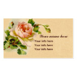 Pink Rose Vintage Style Watercolor Painting Business Card Template