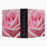 pink rose vinyl binders