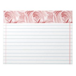 Pink Rose Wallpaper Pattern Notepad