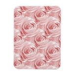 Pink Rose Wallpaper Pattern Rectangular Photo Magnet