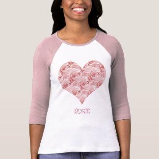Pink Rose Wallpaper Pattern T-Shirt