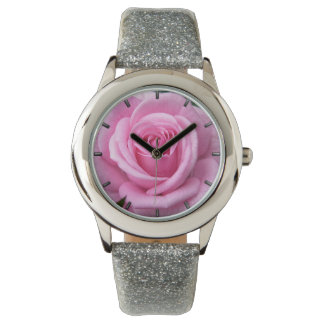 Pink Rose Watch Romantic Rose Wrist Watch Pink