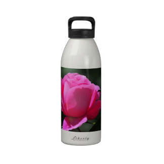 Pink Rose Reusable Water Bottle