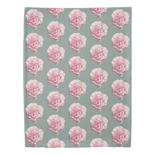 Pink Rose Watercolor Illustration Pattern