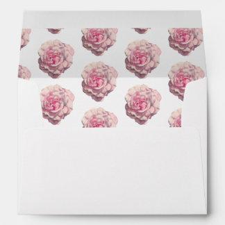 Pink Rose Watercolor Illustration Pattern Envelope