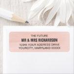 Pink Rose Watercolor Wedding Return Address Labels