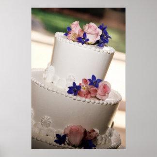 Pink Rose Wedding Cake Bakery Poster Print