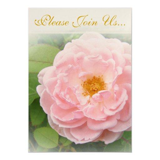 Pink Rose Wedding II 5x7 Paper Invitation Card