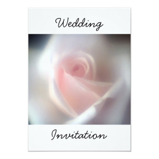 "Pink Rose Wedding Invitation 5"" X 7"" Invitation Card"