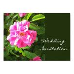 Pink Rose Wedding Invitation 13 Cm X 18 Cm Invitation Card