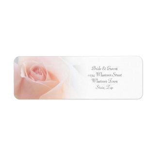 Pink Rose Wedding Label