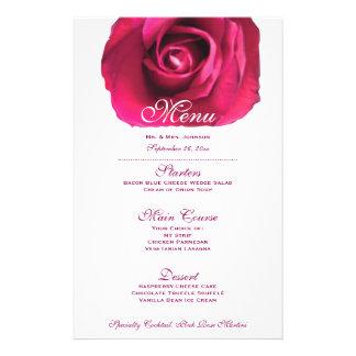 Pink Rose Wedding Menu