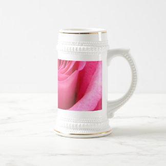 Pink Rose Wedding Photo Beer Stein