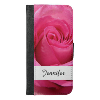 Pink Rose Wedding Photo iPhone 6/6s Plus Wallet Case