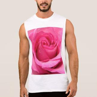 Pink Rose Wedding Photo Sleeveless Shirt