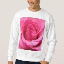 Pink Rose Wedding Photo Sweatshirt