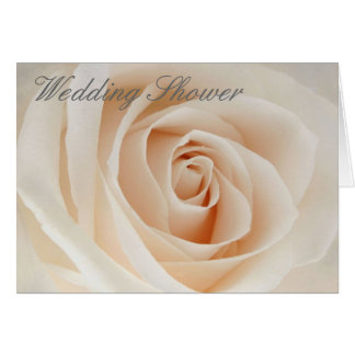 Pink Rose, Wedding Shower Greeting Card