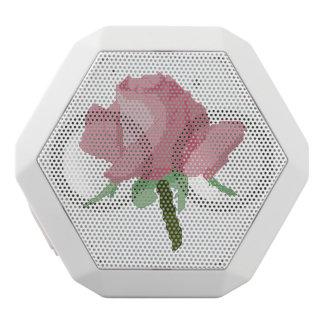 Pink Rose White Bluetooth Speaker