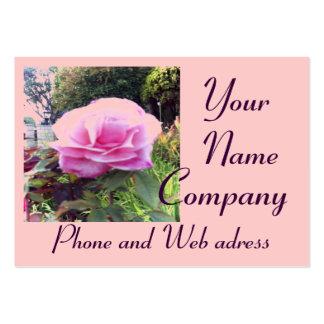 Pink Rose  with 2013 Calendar  Business Card