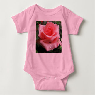 Pink Rose with Dew Infant Creeper
