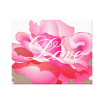 Pink Rose With Love Canvas Print