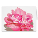 Pink Rose With Love Greeting Card