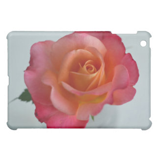 Pink Rose with Orange Center iPad case