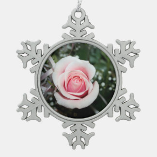 pink rose with ribbon close up flower ornament