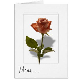 Pink Rose with Shadow Stationery Note Card