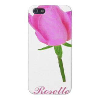 Pink Rose with Stem iPhone SE/5/5s Cover