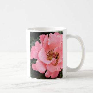 Pink Rose with Yellow Center Coffee Mug