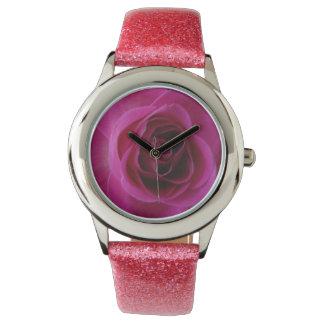 Pink Rose Wrist Watch