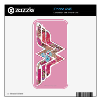 Pink Rose WW iPhone 4S Skins