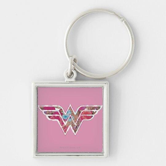 Pink Rose WW Keychain