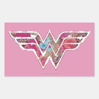 Pink Rose WW Rectangular Sticker