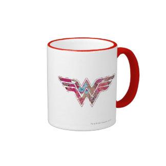 Pink Rose WW Ringer Coffee Mug