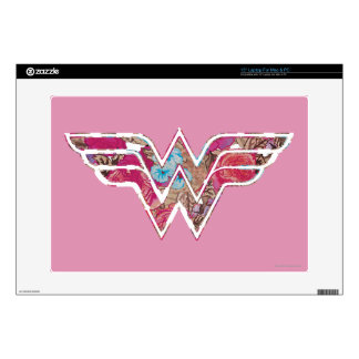 """Pink Rose WW Decal For 15"""" Laptop"""