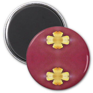 Pink Rose Yellow Modern Simplistic Pattern Magnet