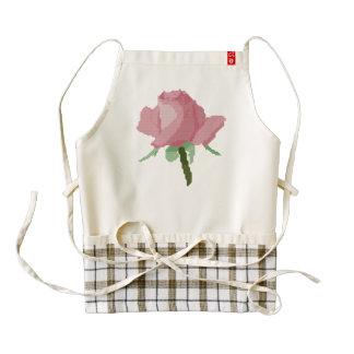 Pink Rose Zazzle HEART Apron