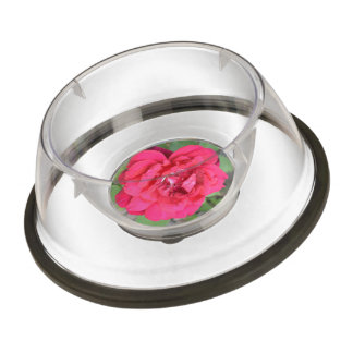 Pink Rose Pet Bowl
