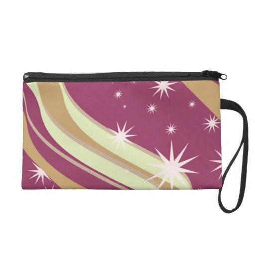 Pink Rosea Sparkle Star Wristlet Bag