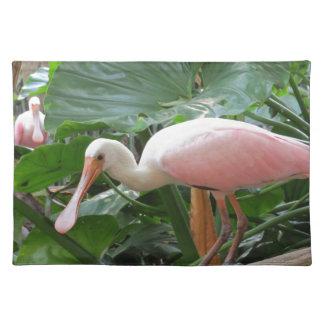 Pink Roseate Spoonbill Bird Place Mats