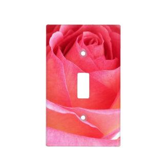 Pink Rosebud 2 Light Switch Cover