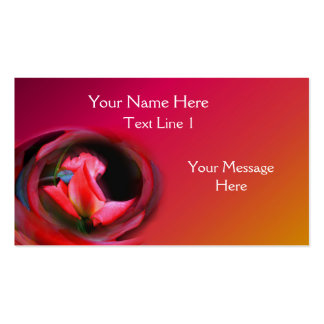 Pink Rosebud Abstract Flower Art Business Card