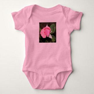 Pink Rosebud Baby Bodysuit