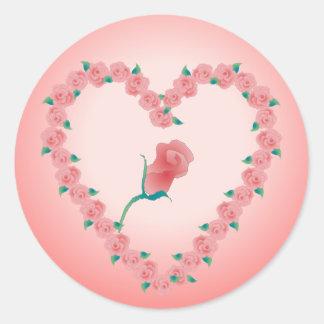 PINK ROSEBUD by SHARON SHARPE Classic Round Sticker