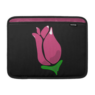 Pink Rosebud Customizable MacBook Air Sleeve